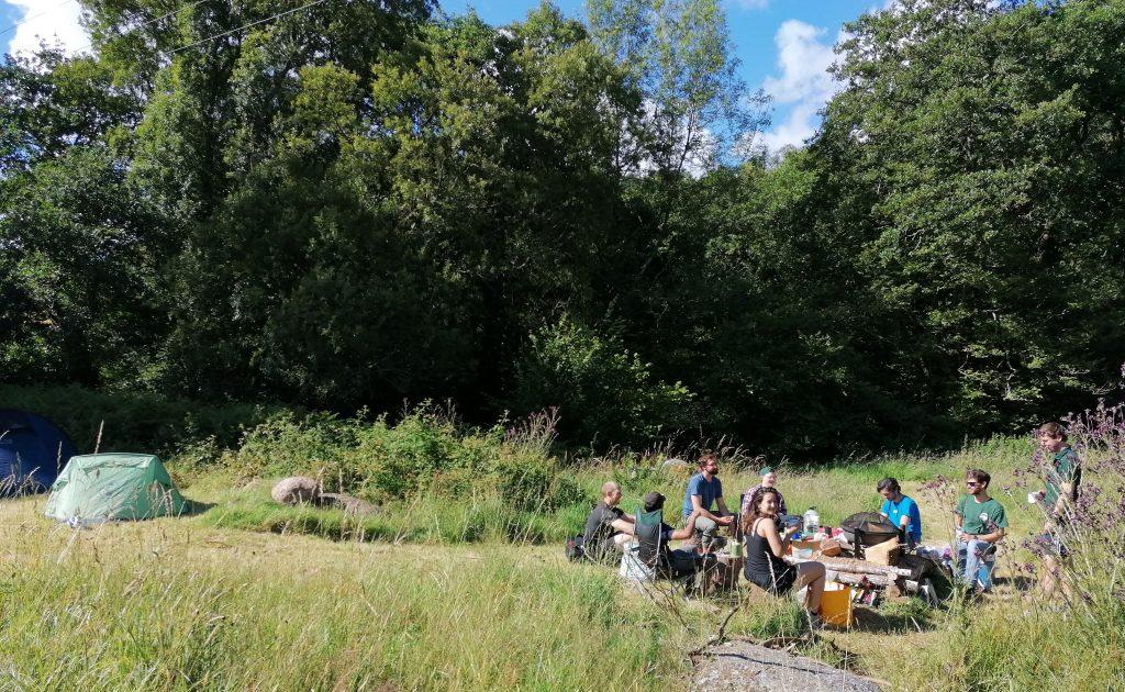 Campsite Breakfast Dartmoor