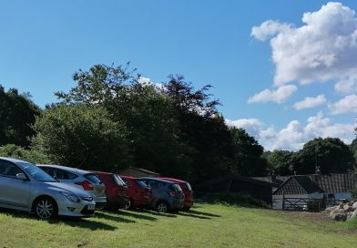 car parking on campsite