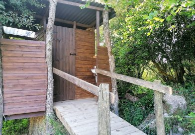 Tree bog compost loo. Sustainable living